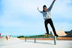 Photo of Jack Cruickshank at the opening of the skatepark that is due to be demolished via Barrhead News