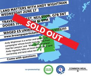 Andy Wightman on Lnad and Democracy Flyer